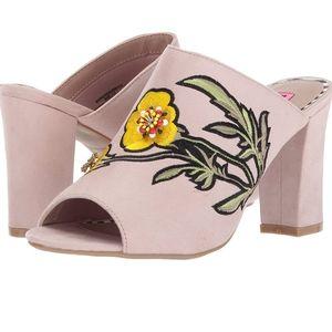 Betsey Johnson Barrow dress sandals in blush pink